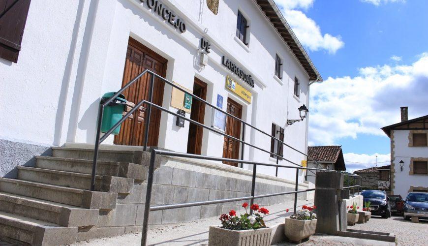Entrada del Albergue municipal de Larrasoaña